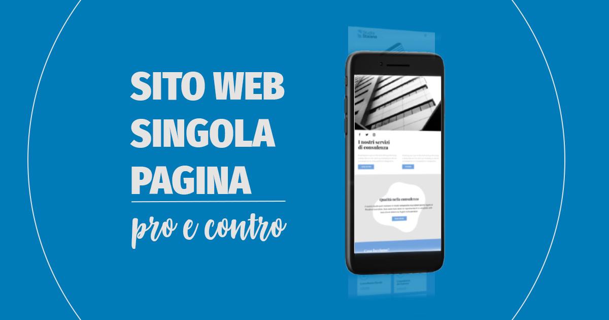 sito web pagina singola